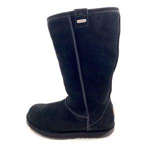 EMU AUSTRALIA black sheepskin tall boots